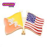 2017 L'émail métalliques personnalisées drapeau du pays d'un insigne de l'épinglette pour la décoration