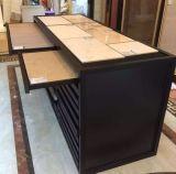 Il cassetto del metallo di apertura copre di tegoli il banco di mostra, armadietto di esposizione metal-ceramico