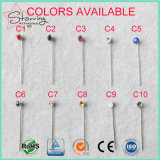 Dekorative sortierte Farben-Acrylhauptstock Hijab Stifte für Festlegung