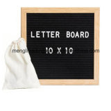 Les lettres changeables Adversiting de plastique en bois de hêtre Handcraft le panneau de lettre de feutre de noir