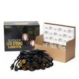 15m 24PCS LED 전구를 가진 방수 LED 끈 빛