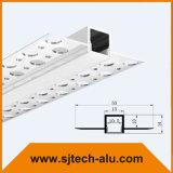 10mmの幅LEDのストリップのためのプラスターの引込められたLEDのアルミニウムプロフィール