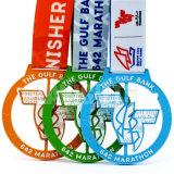 L'alliage bon marché gravent la médaille rare personnalisée de trophées de championnat de sport en métal européen de jeu de lycée