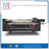 2 tester di stampante di ampio formato a base piatta e rullo per rotolare la stampante di Digitahi a base piatta UV della stampante del LED