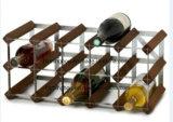 Cremalheira de madeira do vinho do frasco do estilo 15 de Rta com parte do metal