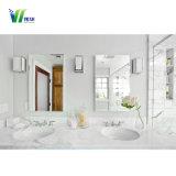 La decoración de baño de plata redondo grande espejo de pared decorativos para el hogar