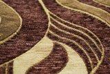 Tissu de capitonnage de Chenille de Brown fabriqué en Chine