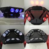 9X10W 4 en 1 RGBW Araña Haz Mover Cabeza Efecto LED