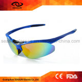 Modèle de visibilité d'UV400 HD votre propre équitation de recyclage de marque pilotant des hommes de mode en verre 2017 lunettes de lunettes de soleil de sports