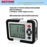 Monitor de CO2 Digital Medidor de CO2 a HT-2000 DETECTOR DO ANALISADOR DE GÁS 9999 ppm analisadores de CO2 com o Testador de temperatura e umidade relativa