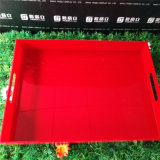 Plateau acrylique de noir multi de but pour l'étalage de nourriture