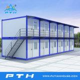 Dos casa modular prefabricada de la oficina del envase de los suelos 20FT