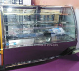 Refrigerador vitrina de bolos de vidro curva para exibição de bolo com marcação, CB, SASO
