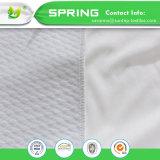 Cubierta ajustada polvo anti libre hipoalérgico impermeable del ácaro del vinilo del protector del colchón de Terry del algodón
