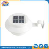 Lumière solaire de 3 PCS DEL pour la frontière de sécurité en bambou