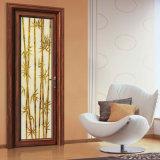 Portello di legno di vetro d'isolamento della stanza da bagno del grano del materiale da costruzione