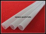 Tube de verre blanc laiteux de quartz avec le bas rond