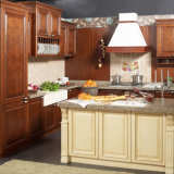 Gabinete de cozinha de madeira de Europa Tranditional Soild