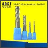 HRC55 3フルートの切削工具のためのアルミニウム端製造所