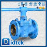 Фланец Didtek кончает клапан штепсельной вилки втулки Wcb управляемый рукояткой