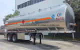 2 ejes Fuwa Petrolero Tráiler 37000L tanque de acero inoxidable semi remolque
