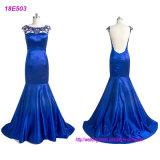متبخّرة تصميم نساء لون زرقاء تقليديّة مساء ثوب