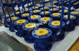 En acier inoxydable Supler Soft assis en PTFE siège rapporté de Peek entrée verticale, latérale et purge du bloc double clapet à bille flottante