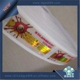 Etiqueta engomada olográfica del rodillo con la impresión de encargo de la insignia