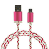 Cavo di carico del USB degli accessori del telefono mobile con l'indicatore luminoso del LED per le unità mobili