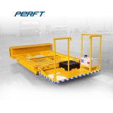 Kreuz-Bucht Übergangsflachbettfahrzeug für Industrie-Gebrauch hing an den Schienen ein