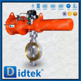 Didtek Triples Offset Wafer Type Pneumatic Butterfly Valve