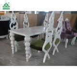 レストランの優雅で白い木の現代食堂テーブルおよび椅子(180 cm)