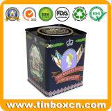 Stagno su ordinazione di memoria del carrello di tè della scatola metallica del tè del metallo con la goffratura