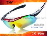 Оптовое Dropship отсутствие Riding велосипеда объективов солнечных очков промотирования логоса UV400 задействуя заменимого управляя стеклами Sun