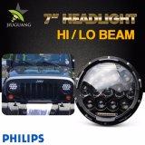 Faro impermeabile rotondo di pollice LED del Wrangler 75W 7 della jeep per i camion fuori strada del Hummer di Jk Tj FJ