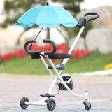 Einfacher Falz-kleiner Kind-Dreiradbaby-Spaziergänger