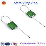 Sellos de la seguridad del bloqueo de puerta del envase de la alta calidad con el alambre del cable