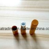 Tube en plastique de rouge à lievres de conteneur cosmétique en bambou