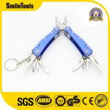 Plegable de bolsillo agarres múltiples con una pinza de acero inoxidable keychain