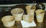 Cuvettes de papier de café de métier avec le modèle de logo d'impression