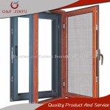 Diseño clásico aspecto de madera Ventana de aluminio con doble acristalamiento Casement