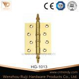 Производство черного цвета с двумя фиксирующими элементами для тяжелого режима работы петли латунные петли двери (HG-1001)