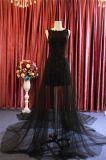 Нанесите валик Applique черного цвета коктейль вечером Prom вечерние платья