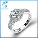 Zilveren Ring van Steling van het Zirkoon van de trouwring de Witte