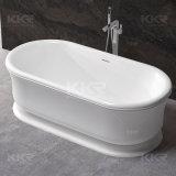 Freie stehende feste Oberflächensteinharz-Untersatz-Badezimmer-Badewanne