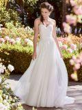 Trägerloses Brautkleid-Spitze-Korsett-wulstiges Hochzeits-Kleid A17096