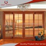 Алюминиевая и стеклянная раздвижная дверь с внутренними решетками