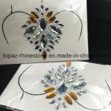 2018 последних Самоклеющиеся наклейки Rhinestone Crystal алмазов для защиты грудной клетки на наклейке (E19)