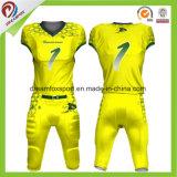 Ajuste a seco camisa esportiva camisa futebol americano de sublimação personalizada
