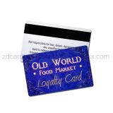 Изготовленный на заказ карточка PVC магнитной прокладки печатание пластичная с кодом штриховой маркировки